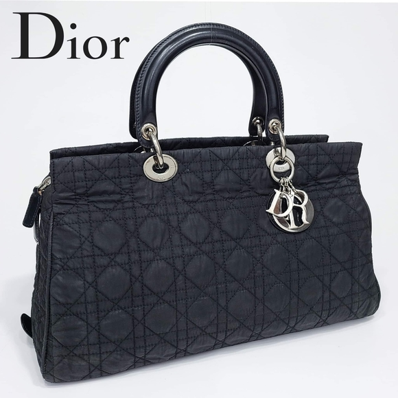Christian Dior Cannage Lady Quilted Doctor Bag